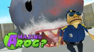 Amazing Frog - GIANT SHARK IN THE CITY - Part 38