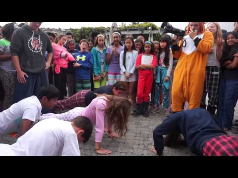 Crystal Springs Uplands School push-up contest