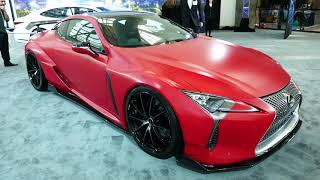 New 2018 Lexus LC - Red Vinyl Wrap - 2017 LA Auto Show, Los Angeles CA