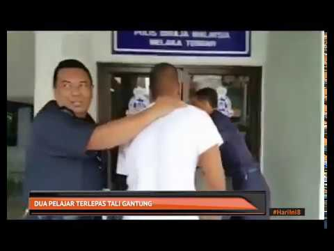 Dua pelajar terlepas tali gantung