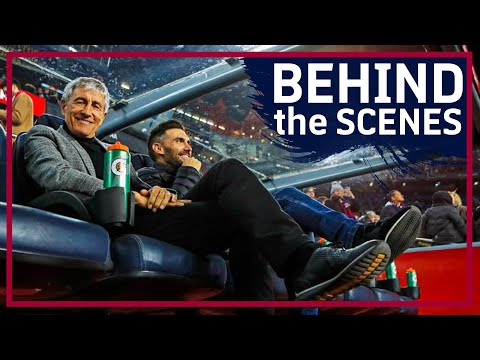 TUNNEL & COACH CAM | Quique Setién's winning debut (Unseen footage!)