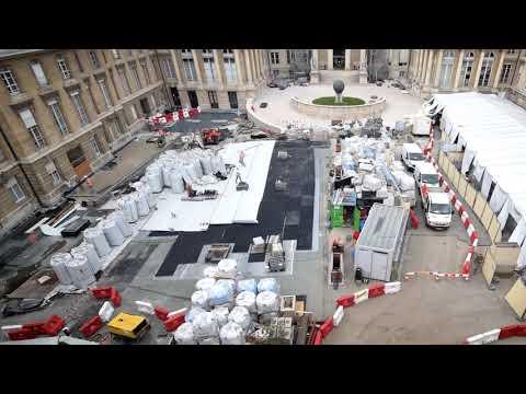 Paris (75) | Rénovation de la cour d'honneur du Palais-Bourbon – Assemblée Nationale