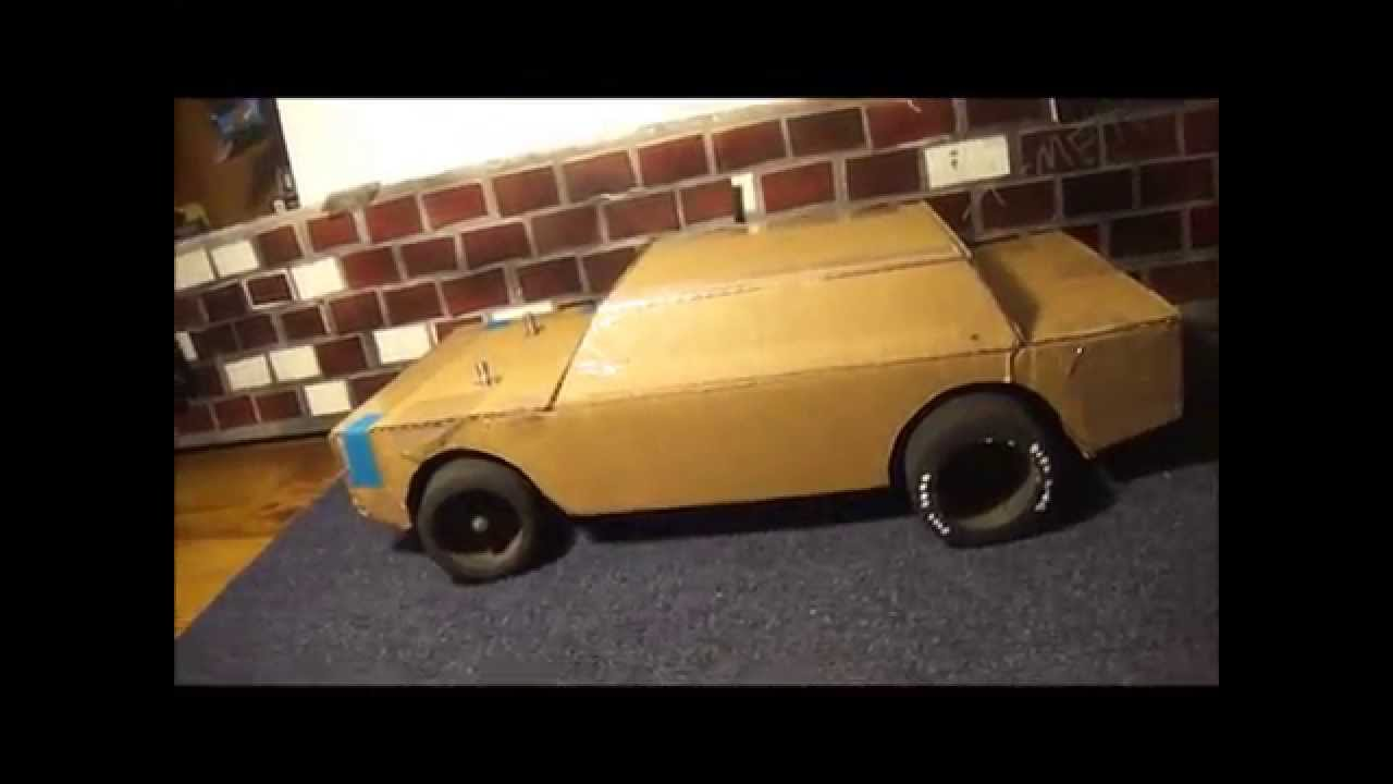 Rat Rod Rc Project Part 2 Homemade Cardboard Body Youtube