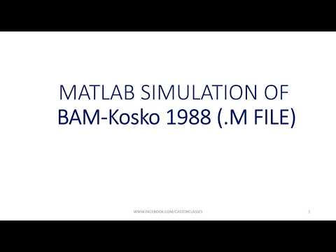 MATLAB SIMULATION OF BAM Kosko