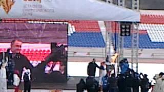 Олимпийский огонь в Черкесске(, 2014-01-27T15:10:09.000Z)
