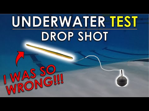 Drop Shot Length, Weight, And Bait Testing | Underwater Bass Fishing Rig Test
