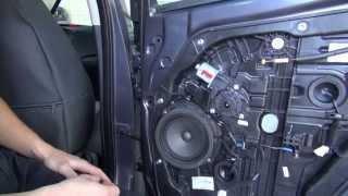 Полная разборка двери на Kia Ceed модели 2012 г.
