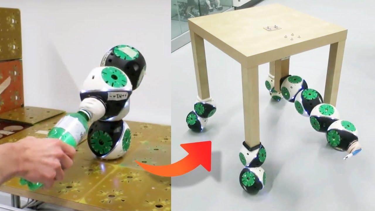 Watch these Modular Robots transform into a Chair