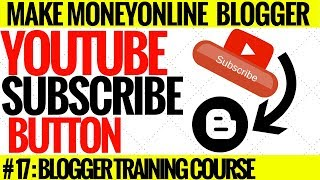 How to add youtube subscribe button on blogger urdu hindi