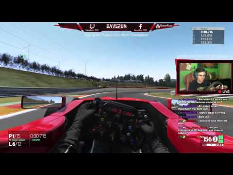 F1 - SPA - Project CARS 100% AI difficulty - DaveRun/livestream