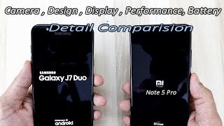 Samsung Galaxy J7 DUO Vs Redmi Note 5 Pro Detail Comparision ! Detail Review, Camera Performance !