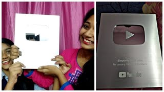 Silver Play button unboxing video💃💃💃💃💃💃💃💃💃💃💃💃💃💃💃💃💃💃💃Thank you so much to alllllll