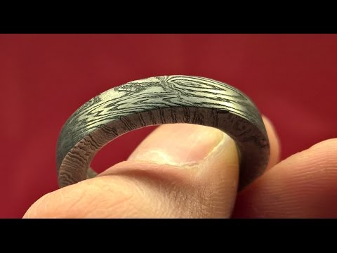 DIY Damascus Ring | How to make a Damascus Ring without that many tools