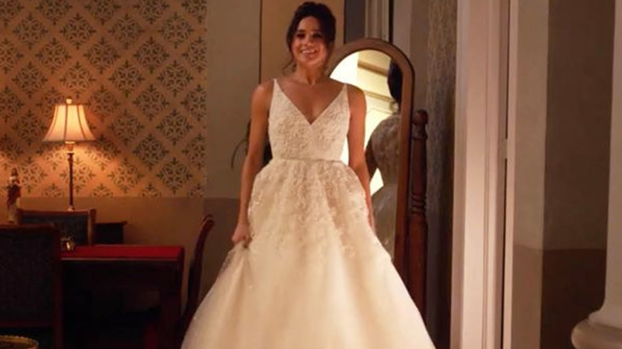 Meghan Markle SPOTTED in a Wedding Dress and Quits Suits - YouTube