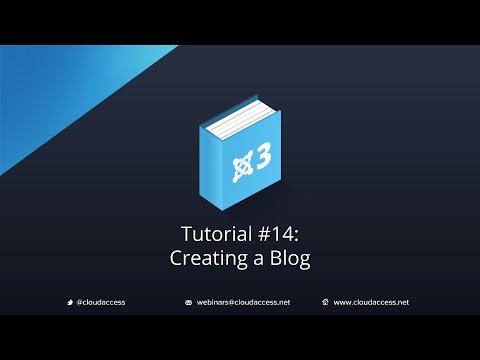 Creating A Category Blog - Joomla Tutorial #14