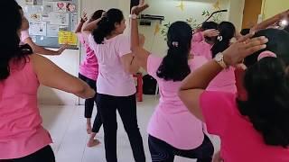 Dancing to the PINKATHON anthem at SHAMBHAVI empowering women