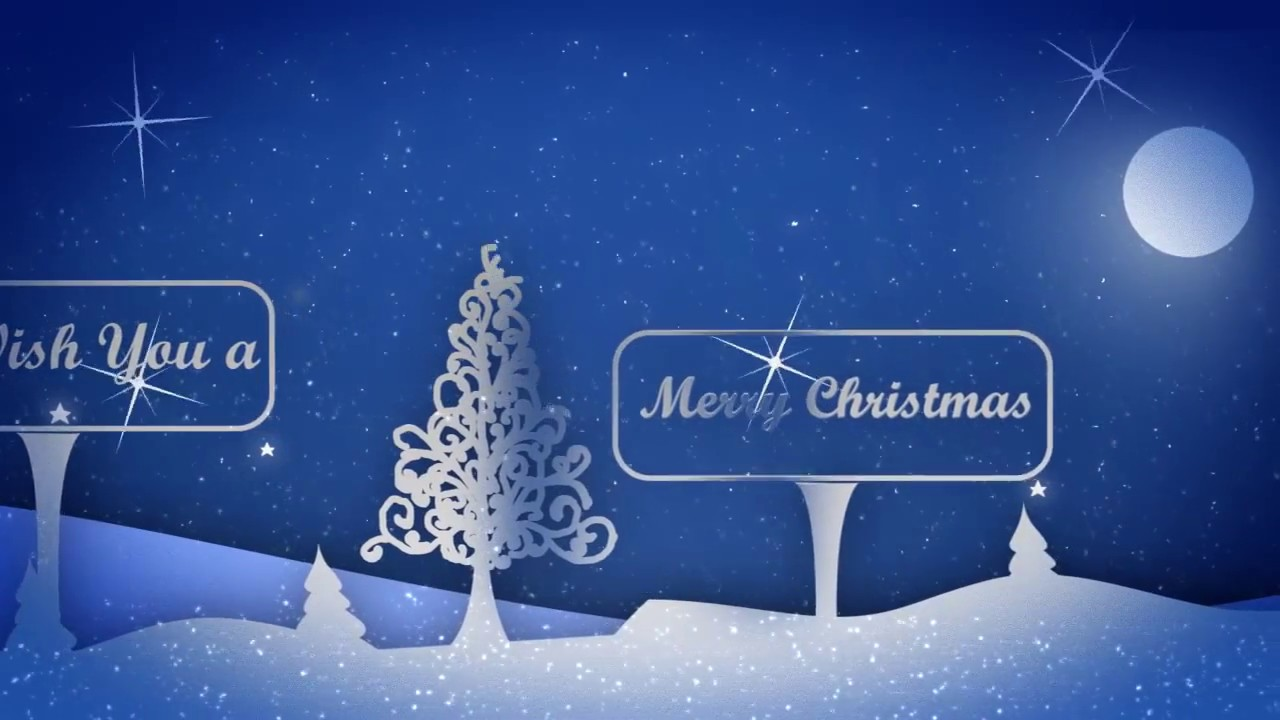 Snowy Nigh After Effects Greeting card Project & Template