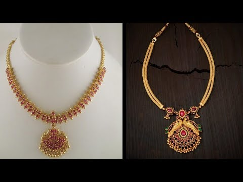 Latest Light Weight New Models Gold Short Necklace Designs Youtube