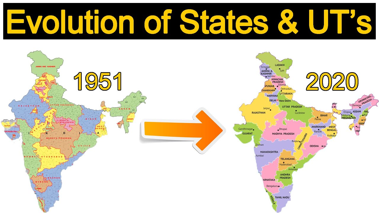 Evolution of Indian States and Union Territories   Indian Polity V9
