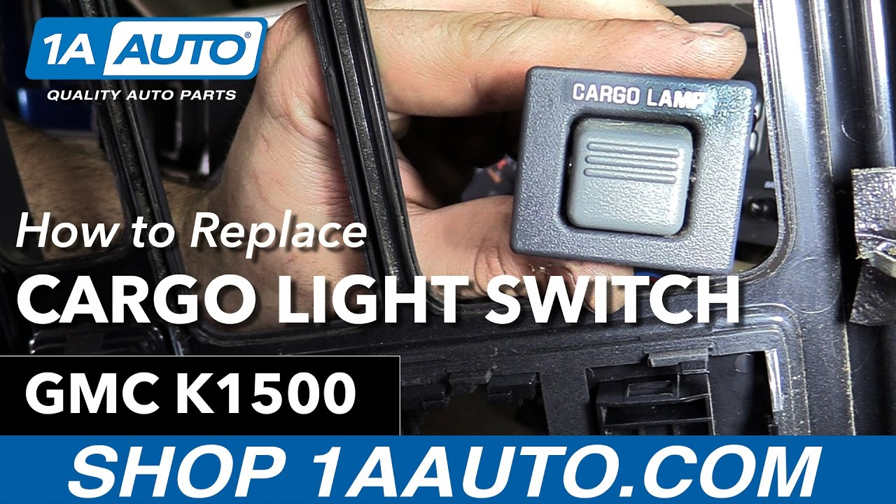 how to replace cargo lamp switch 88 98 gmc k1500 [ 1280 x 720 Pixel ]