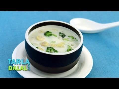 Thai Style Coconut Cream Soup by Tarla Dalal