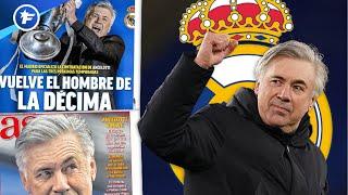 Le retour de Carlo Ancelotti sur le banc du Real Madrid fait sensation | Revue de presse