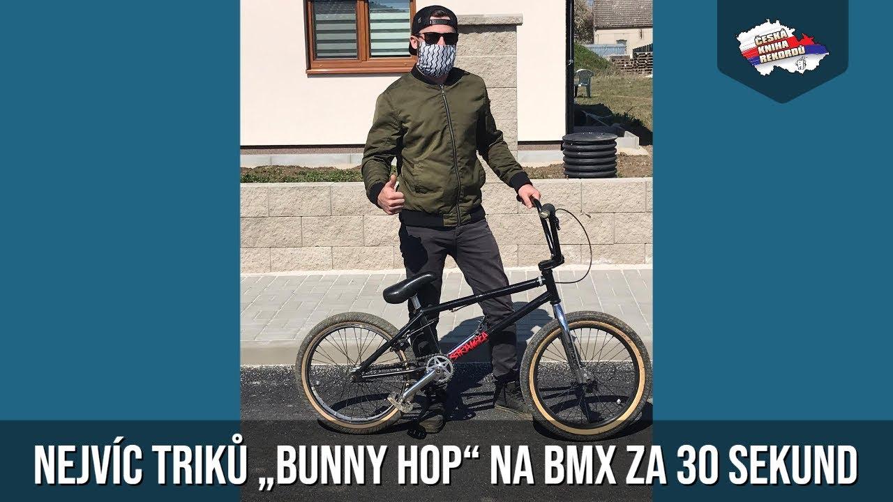 """Video Nejvíc triků """"bunny hop"""" na BMX za 30 sekund"""