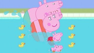 Summer Swimming Race! - Peppa Pig The Holiday and Other Stories - English Compilation Episode 017