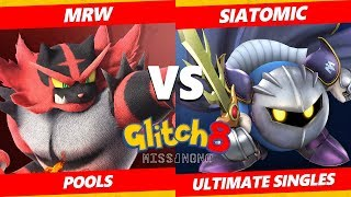 Glitch 8 SSBU - MRW (Incineroar) Vs. Siatomic (Meta Knight) Smash Ultimate Tournament Pools