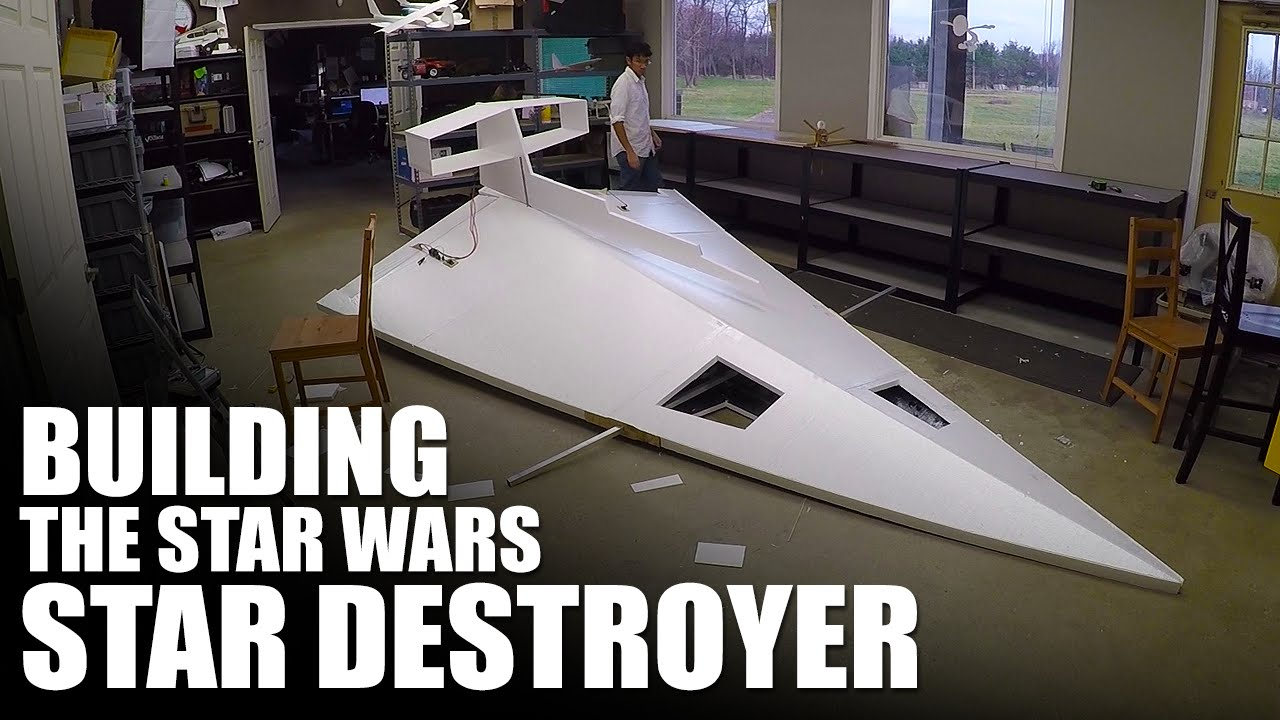 Papercraft Building A Giant RC Star Wars Star Destroyer | Flite Test