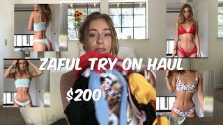 $200 on ZAFUL?!?  BIKINI TRY ON HAUL| DAISYKEECH