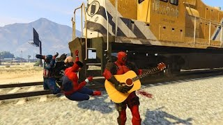 GTA 5 BRUTAL KILL COMPILATION (Grand Theft Auto V Walk with DEADPOOL V.2/Funny Moment/Thug life)