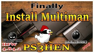 How To Install Multiman On All HFW 4.84.2 PS3 With HEN 2019