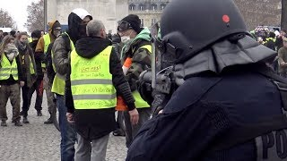 Gilets jaunes Acte 9 : incidents en fin de manifestation (12 janvier 2019, Paris)