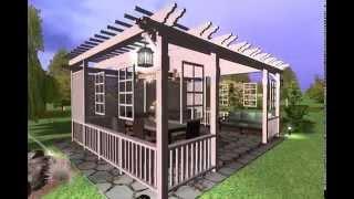 Пергола(Садовая перголла, выполненная из древесины. Дизайн перголлы разработан под заказчика., 2014-06-17T11:12:55.000Z)