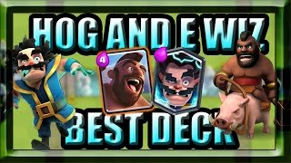 best hog rider and electro wizard deck in clash royale easy 3 crowns in arena