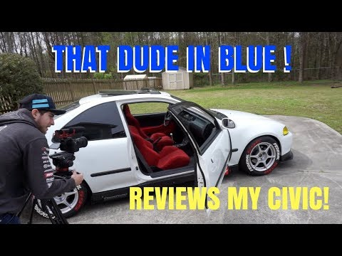 MY K20 EG EJ1 CIVIC GETS REVIEWED BY DAVID PATTERSON!  HSG EP. 6-23