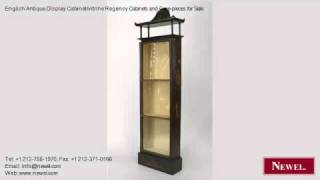 English Antique Display Cabinet/vitrine Regency Cabinets