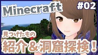 【見つけたもの紹介&洞窟探検!】こまつりなLive【Minecraft/マインクラフト #02】