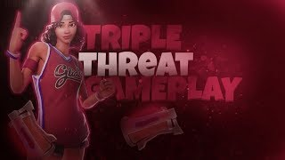 ¡Fortnite New Triple Threat Skin Gameplay! ¡Intenso juego! 26 Muertes😱
