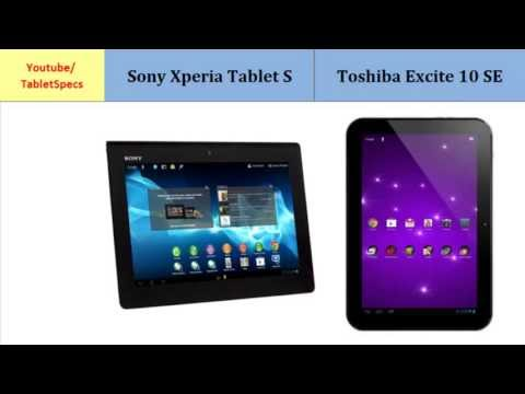 Sony Xperia Tablet S versus Toshiba AT300SE, all specifications