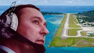 Antonov 124 Landing. Seychelles, Victoria.