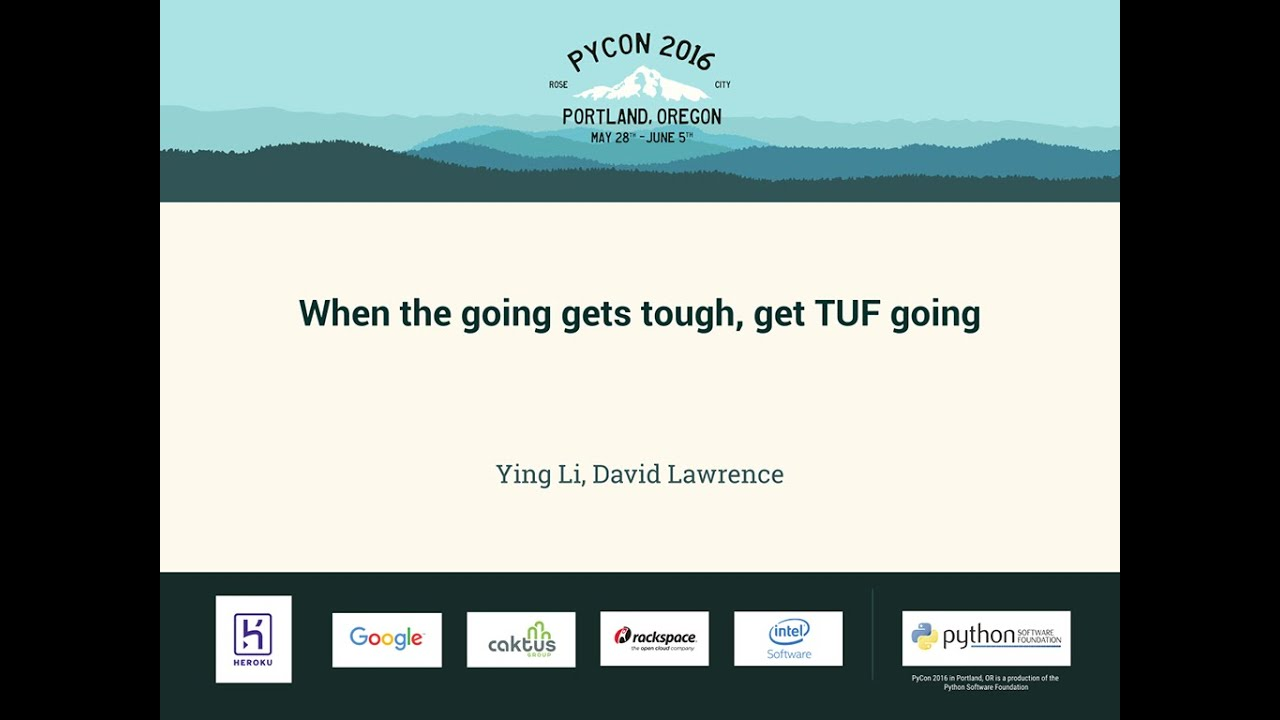Image from When the going gets tough, get TUF going