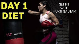 VLOG DAY 1 Diet Plan || Indian Fitness Vlogger Mukti || What to Eat Whole Day For Fat Loss ?