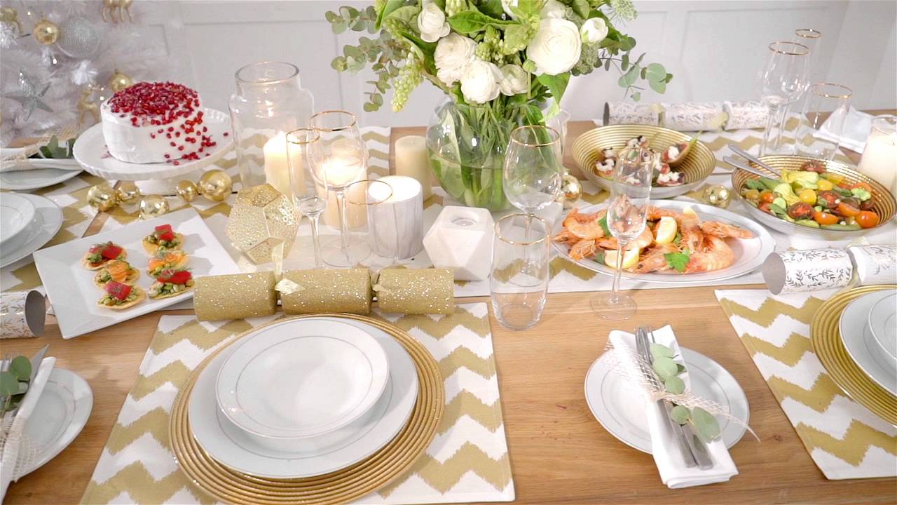 kmart christmas table setting youtube