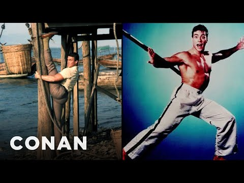 JeanClaude Van Damme Knows How To Take A Publicity Photo   CONAN on TBS