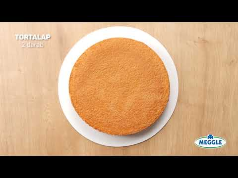 Charlotte-torta MEGGLE Cukrászhabbal