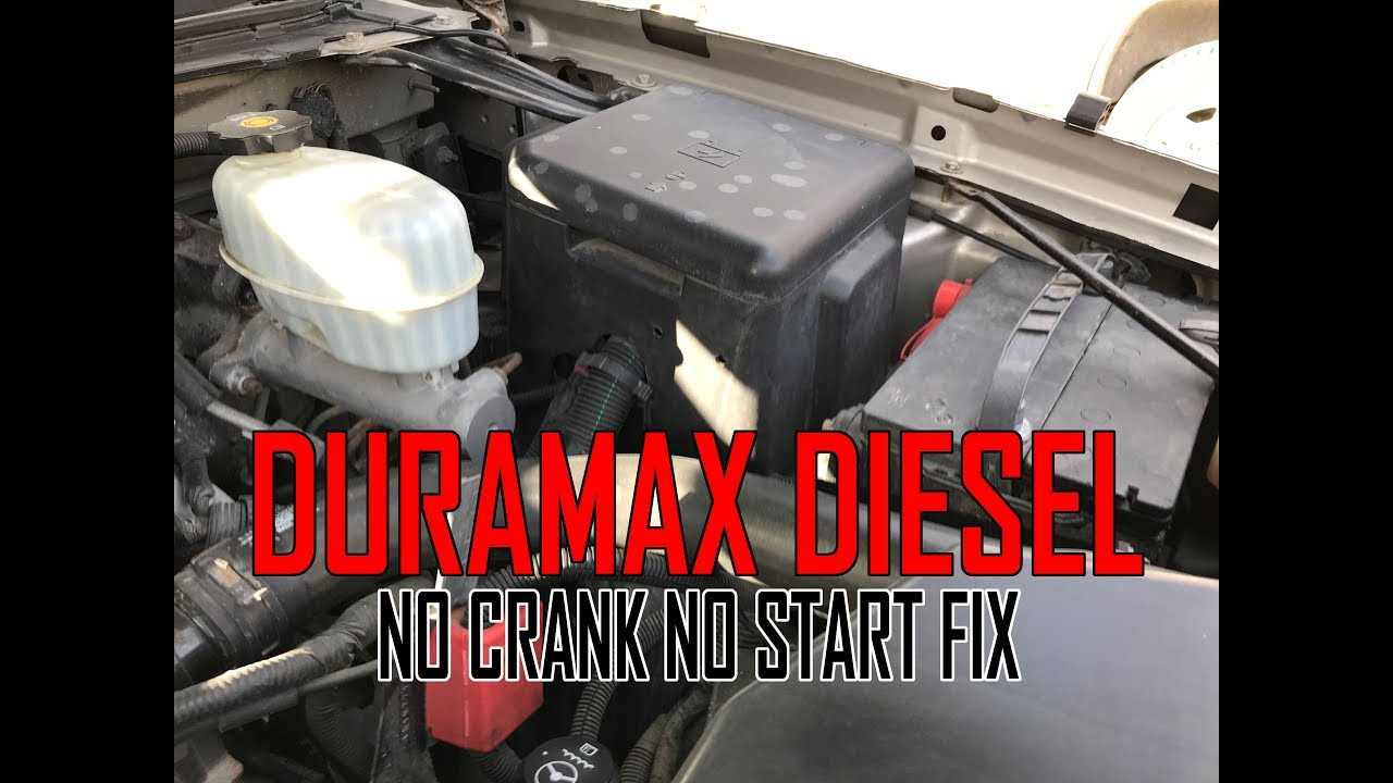Duramax Diesel NO Crank NO Start problem FIX - YouTube