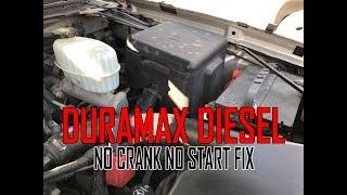 Duramax Diesel NO Crank NO Start problem FIX