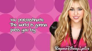 Hannah Montana - Kiss It Goodbye (Lyrics Video) HD